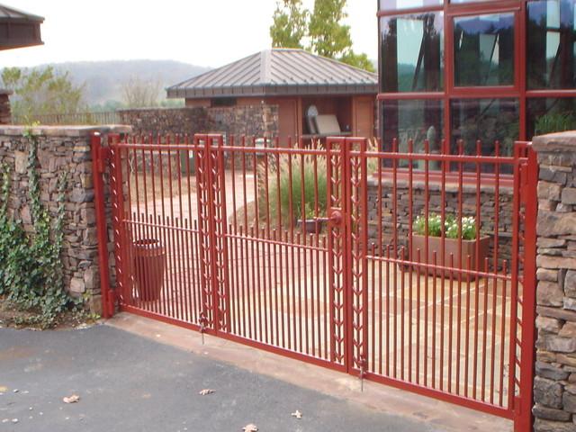 G030 Custom Frank Lloyd Wright Inspired Iron Gates Other