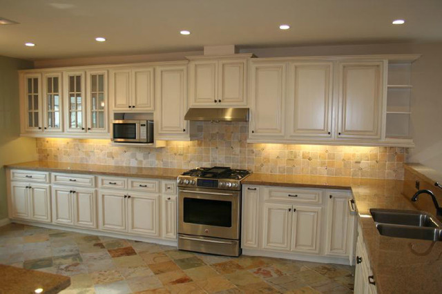Antique White Kitchen Cabinets Home Design traditional - Antique White Kitchen Cabinets Home Design - Traditional