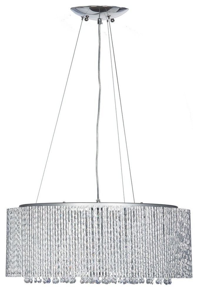 Finesse Decor Crystal Beaded Circle Chandelier