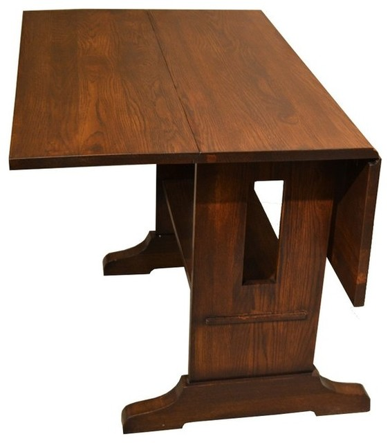 mission drop leaf oak dining table craftsman dining tables by crafters and weavers. Black Bedroom Furniture Sets. Home Design Ideas