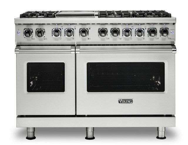 "Viking Professional 48"" Dual Fuel Freestanding Range, Stainless Steel"