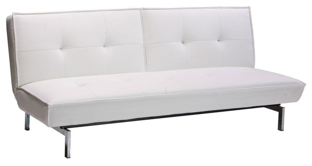 Belle Convertible Futon In White