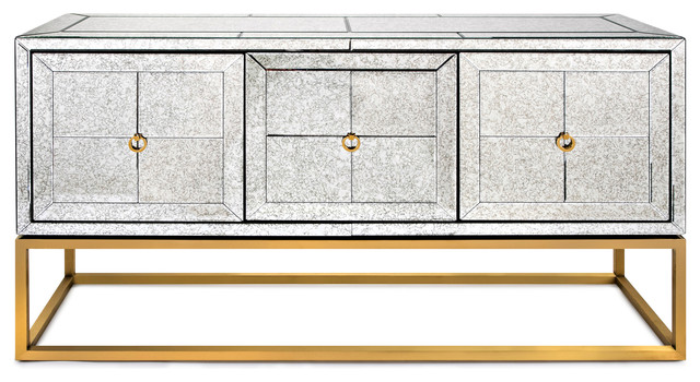 Madison Mirrored Sideboard, Clear by IMAX Worldwide Home
