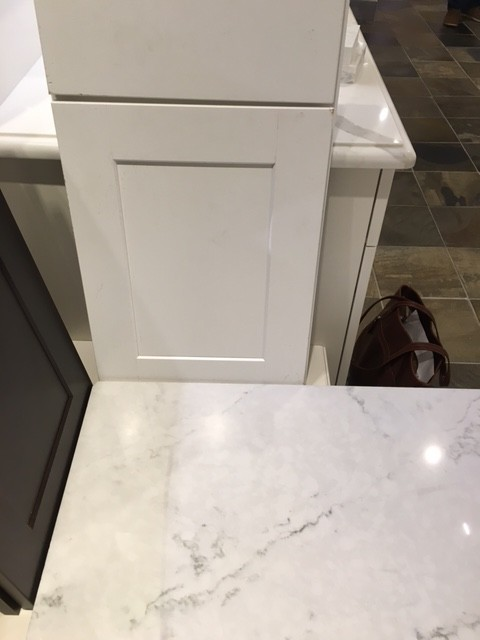 Backsplash Advice For London Sky White Cabinets