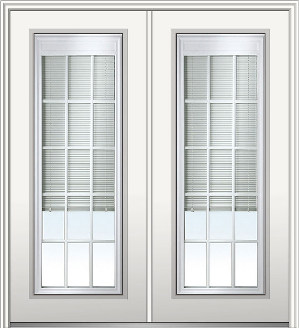 """Internal Blinds With Grilles Steel Double Full Lite, 74"""", Hand In-Swing: Left."""