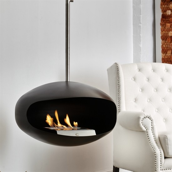 les chemin es suspendues au bio ethanol cocoon fires. Black Bedroom Furniture Sets. Home Design Ideas