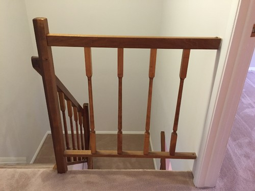 Stair railings temporary diy solution for Stair and railing solution