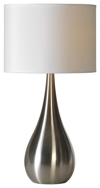 Alba 1 light table lamps satin nickel contemporary table lamps
