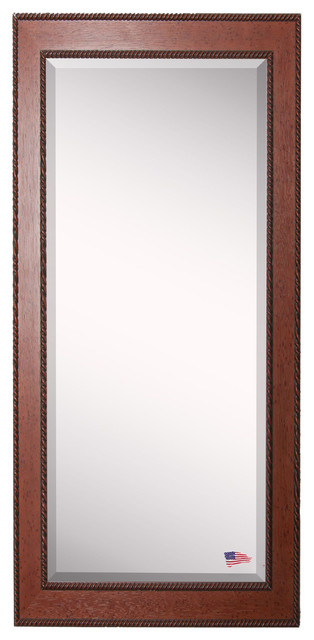 American Made Rayne Western Rope Extra Tall Floor Mirror, 29.5x0.75x70.