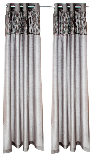 """Calliope Drapery Panels With Grommets, 54""""x84"""", Set Of 2."""