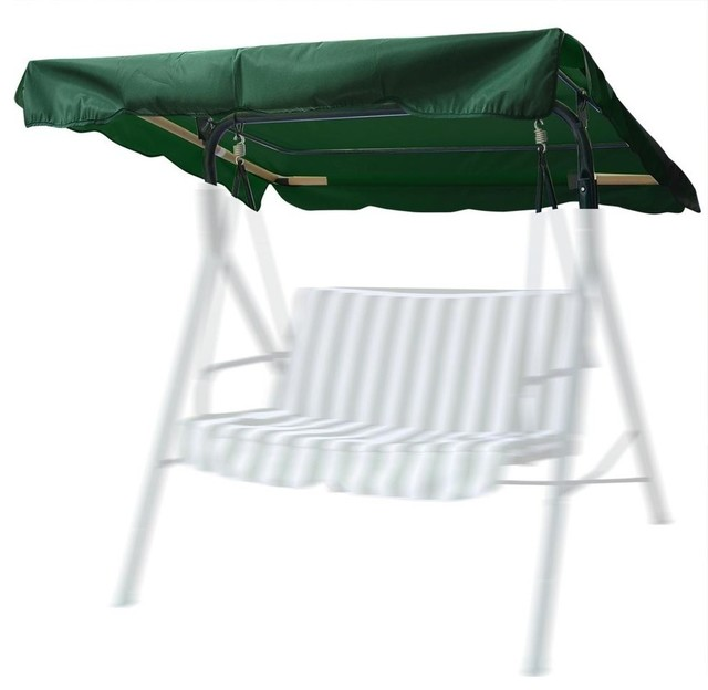 """76""""x44"""" Outdoor Swing Canopy Top Replacement Uv30+ 180gsm, Green."""
