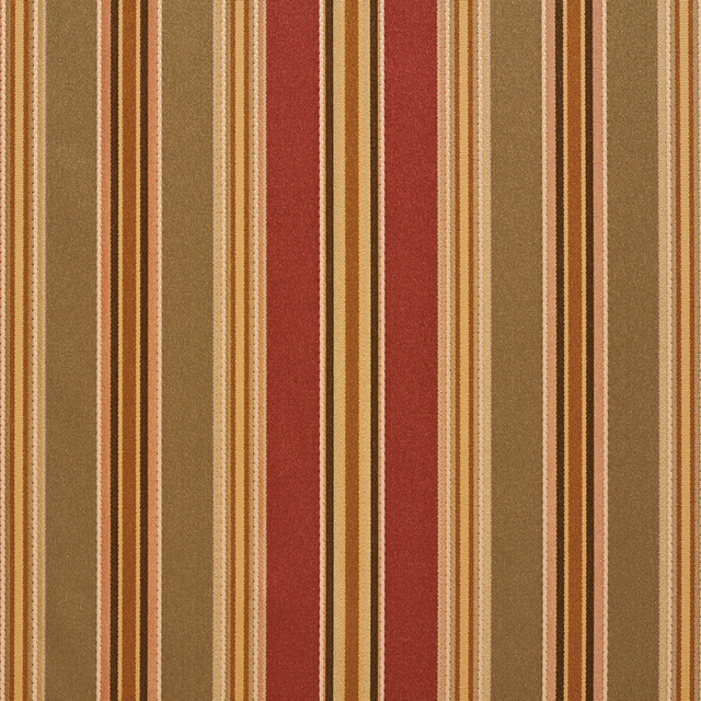 Green Burgundy Gold Various Size Striped Faux Silk Upholstery Fabric