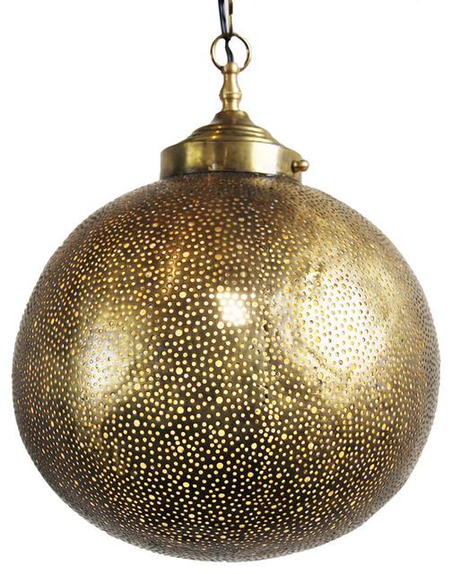 Design Mix Furniture Brass Globe Lantern
