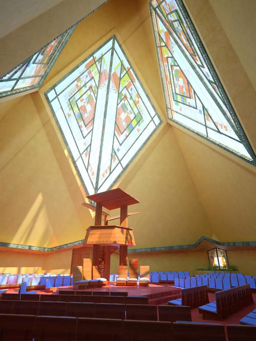 capilla Trinity Frank Lloyd Wright en diariodesign