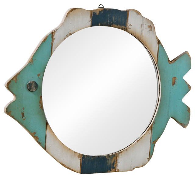 Wood Fish Frame Mirror - Beach Style - Wall Mirrors - by Tripar ...