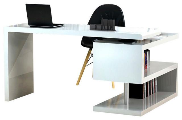 J&m Furniture A33 Office Desk In White.