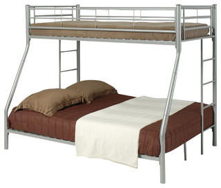 Coaster Youth Twin/Full Bunk Bed, Silver