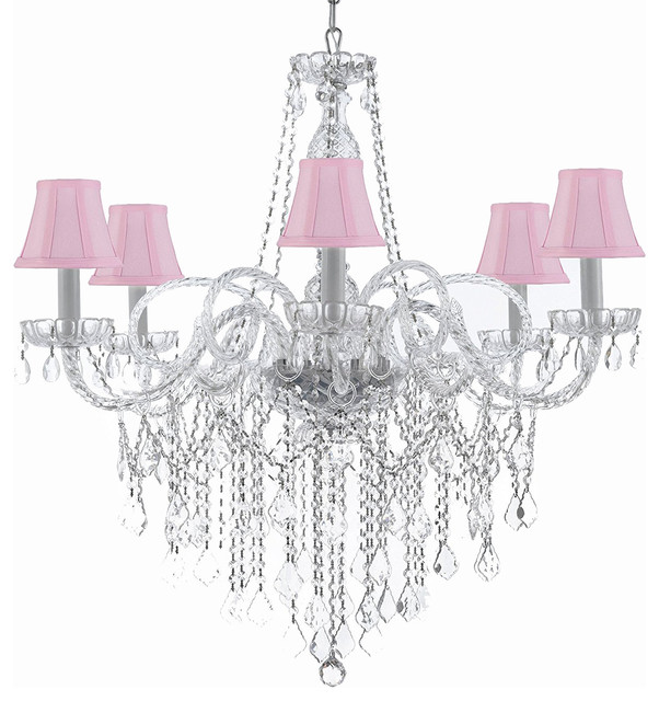 Gallery T22 2233 6 Light 24 Wide Crystal Chandelier With D Accent