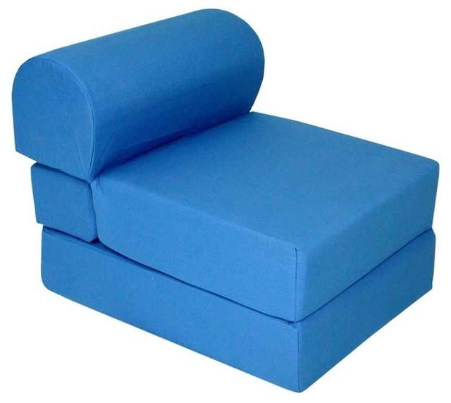 Jr. Twin Studio Chair Sleeper in Blue