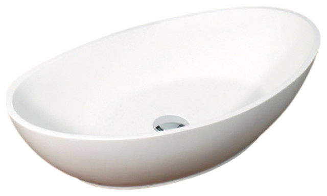 Badeloft Stone Resin Countertop Sink, Glossy