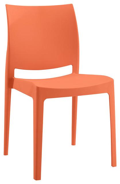 Strange Scoot Dining Chair Orange Camellatalisay Diy Chair Ideas Camellatalisaycom
