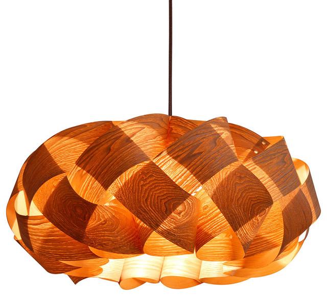 Wood Braids Hanging 3 Light Pendant Lamp Cord Set Type A