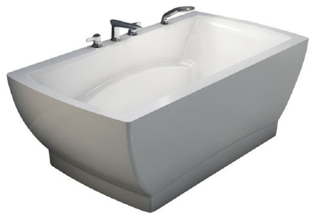 "66""x36"" Believe Drop-In Rectangular Bathtub, Soaker."