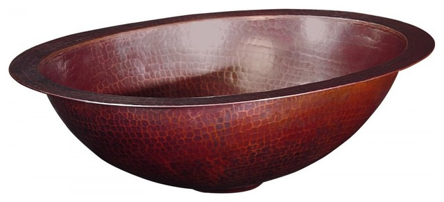 Petit Matisse Oval Handcrafted Copper Sink.