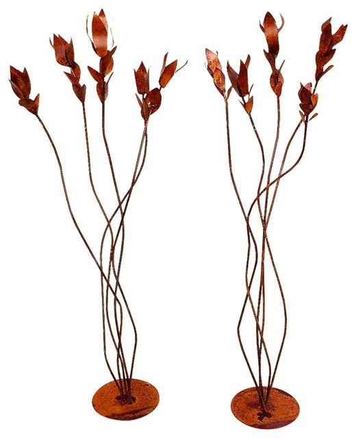 Buy Omar Wysong Steel 55 Ocotillo Garden Sculptures Set Of 2