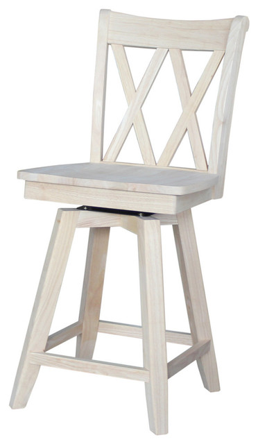 Mason Double X Back Stool With Auto Return Swivel Counter Height