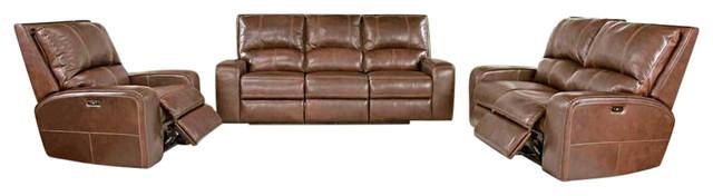 Parker Living, Swift 2-Piece Dual Reclining Power Sofa Set.