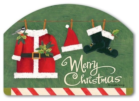 Santa Suit Yard Designs Magnetic Art Traditional Outdoor Holiday Decorations