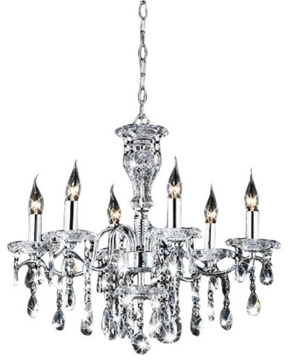 Highlight hk industries limited indoor 6 light chrome crystal indoor 6 light chrome crystal candle light chandelier traditional chandeliers mozeypictures Choice Image