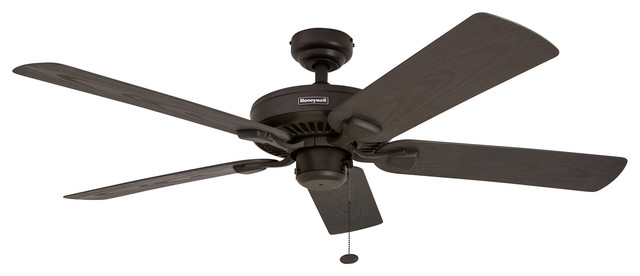 "52"" Belmar Outdoor Ceiling Fan, Bronze."