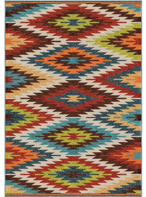 Chandler Indoor/outdoor Rug, Multicolor, 7&x27;8x10&x27;10.