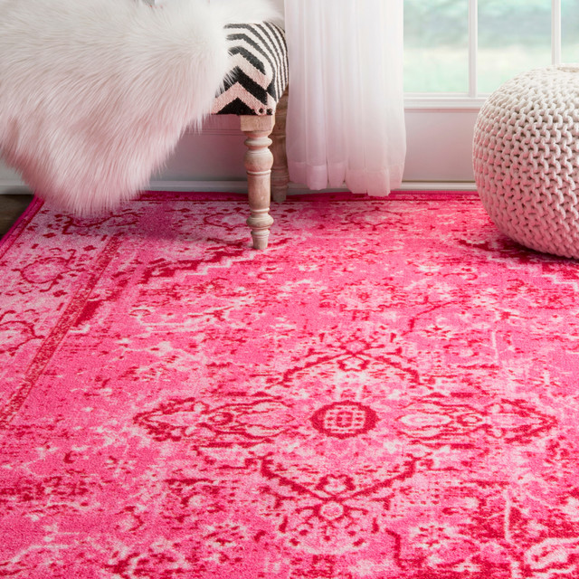Machine Made Jizah Gz01 Rug, Pink, 5'x8'