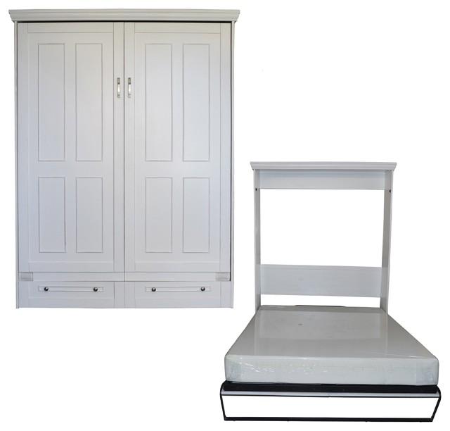 Charmant Kingsbridge Murphy Bed, White, Queen