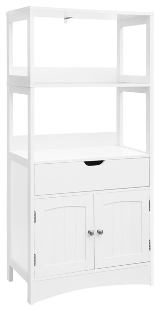 Bathroom Storage Cabinet With Drawer Bathroom Collection Storage White Transitional Bathroom Cabinets By Ameziel Inc Houzz