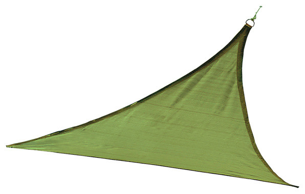 Shadelogic Sun Shade Sail Heavy Weight Triangle, Lime Green, 16&x27;.