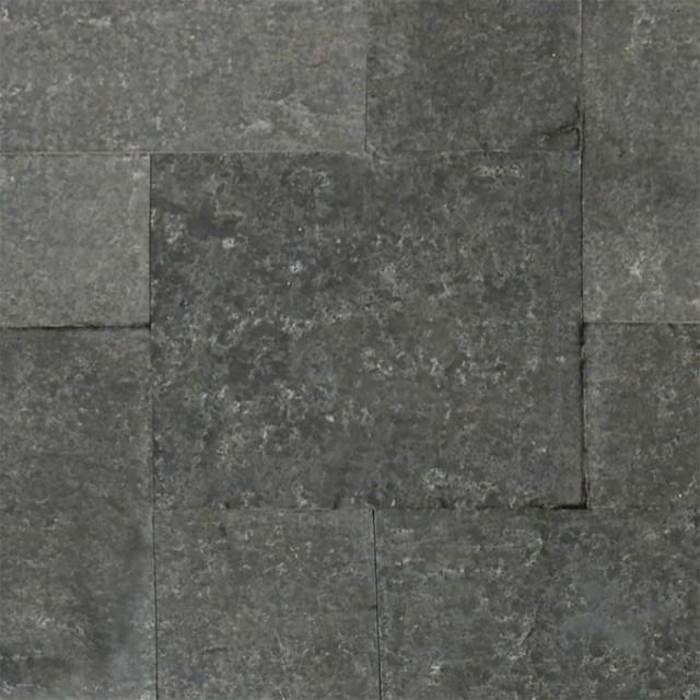Basalt Blue Pavers Flamed 12x12 Basalt Hardscape
