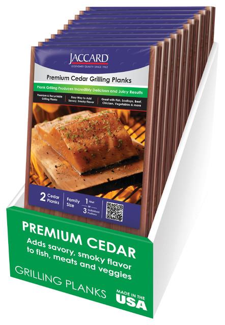 Premium Cedar Grilling Planks Large-Shrink Wrapped-2 Planks Per Pkg. (3 Pack).