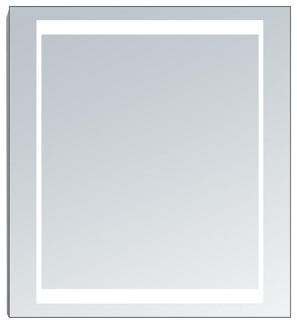 Electric Led Mirror Vanity Cabinet Single Door, Led Tubes, 24 X 26.