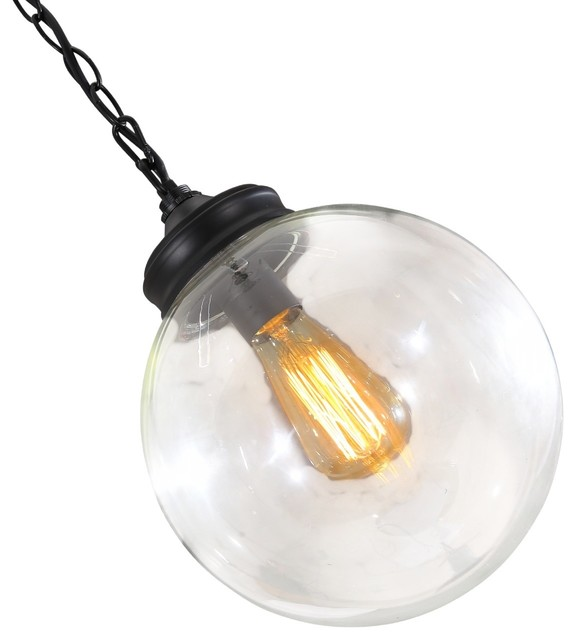 Modern industrial round clear glass pendant lights industrial modern industrial round clear glass pendant lights large aloadofball Images
