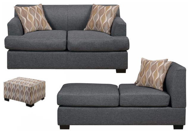Farsund 2Piece Sectional Sofa Blended Linen With Matching