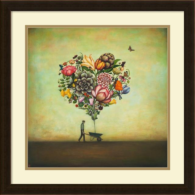 duy huynh big heart botany framed art print 22 x22 contemporary