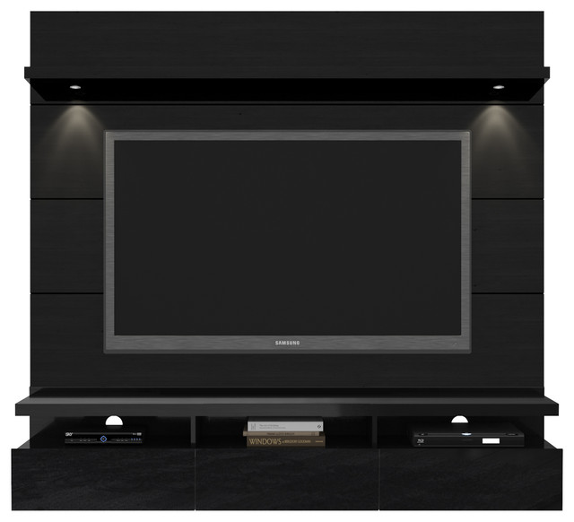 Cabrini 1.8 Floating Wall Theater Entertainment Center - Modern - Storage Cabinets - by Kleban ...