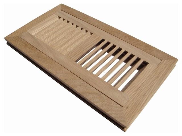 Flush mount wood floor vent register unfinished for 8x10 wood floor registers