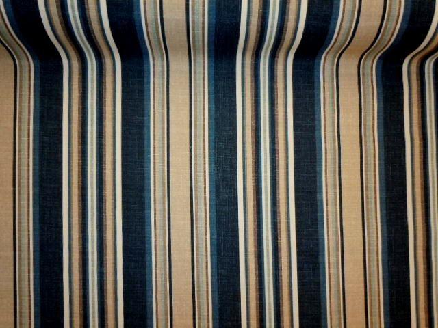 Outdoor Fabric Pattern Navy Stripe