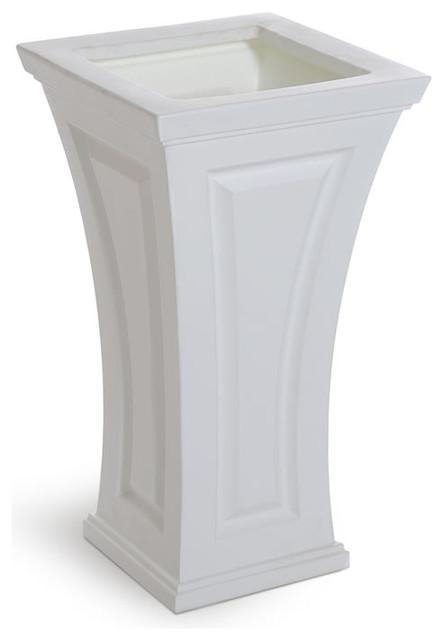 Mayne Cambridge Tall Patio Planter, White