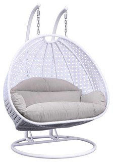 Wicker Double Hanging Egg Swing Chair